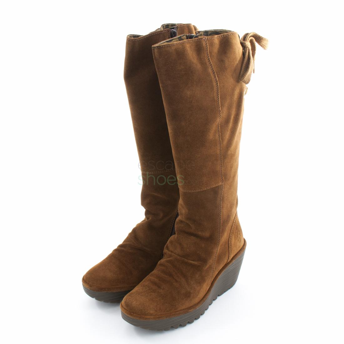 e8d107105d332 Buy your Boots FLY LONDON Yellow Yust Suede Camel P500327041 here ...