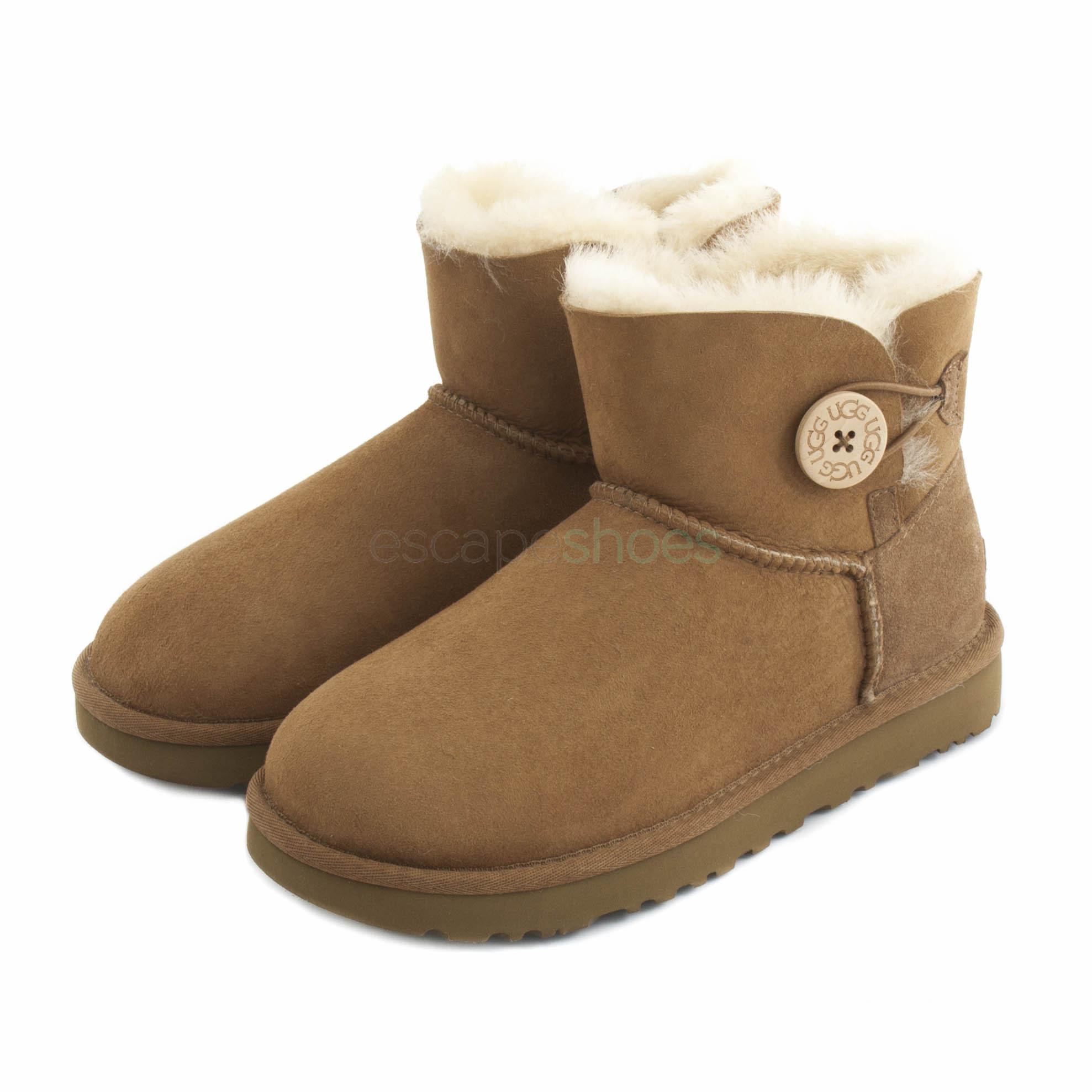 a1f29eaa0b4 Boots UGG Australia Mini Bailey Button II Brown