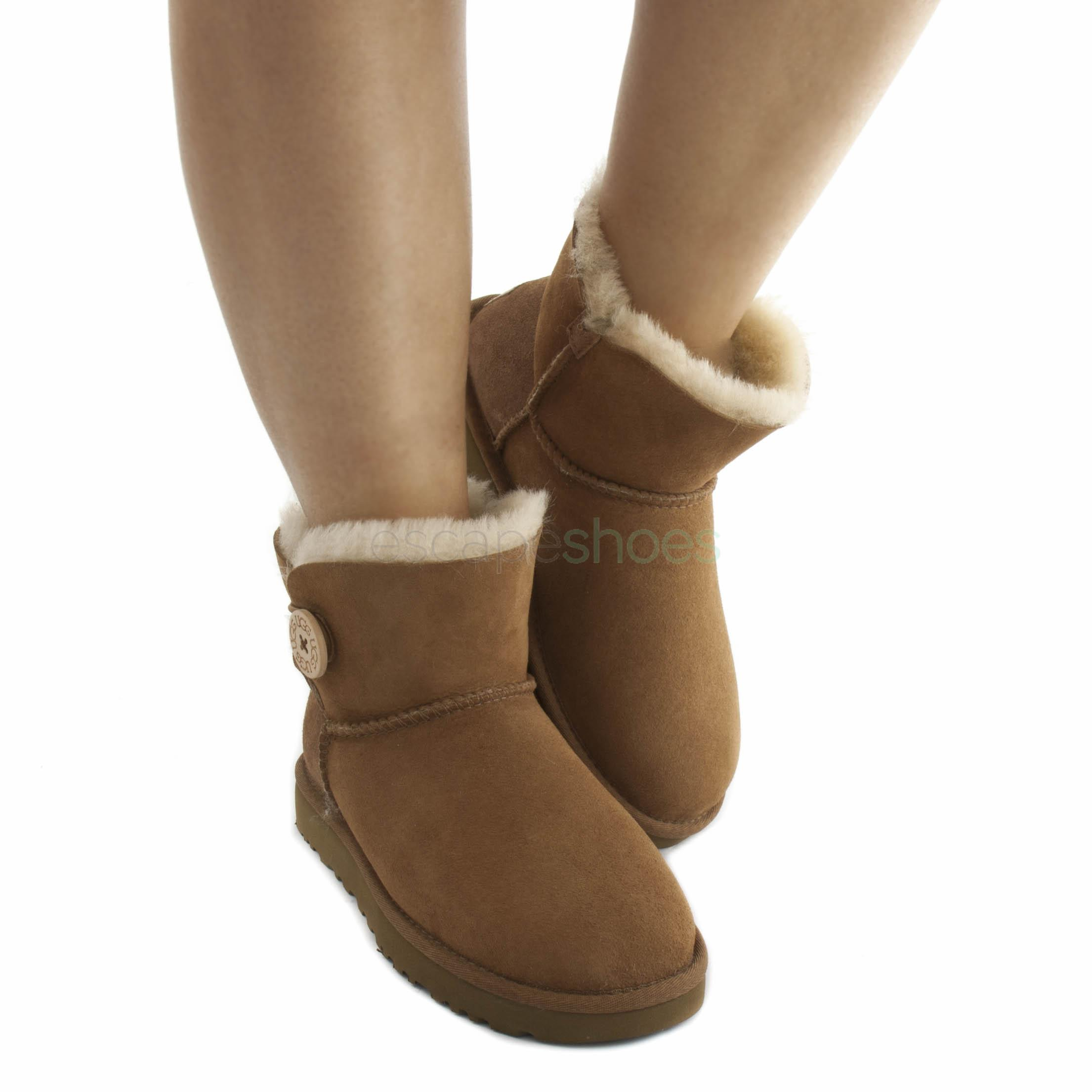 UGG Buckle Strap Chestnut Boots | ASOS