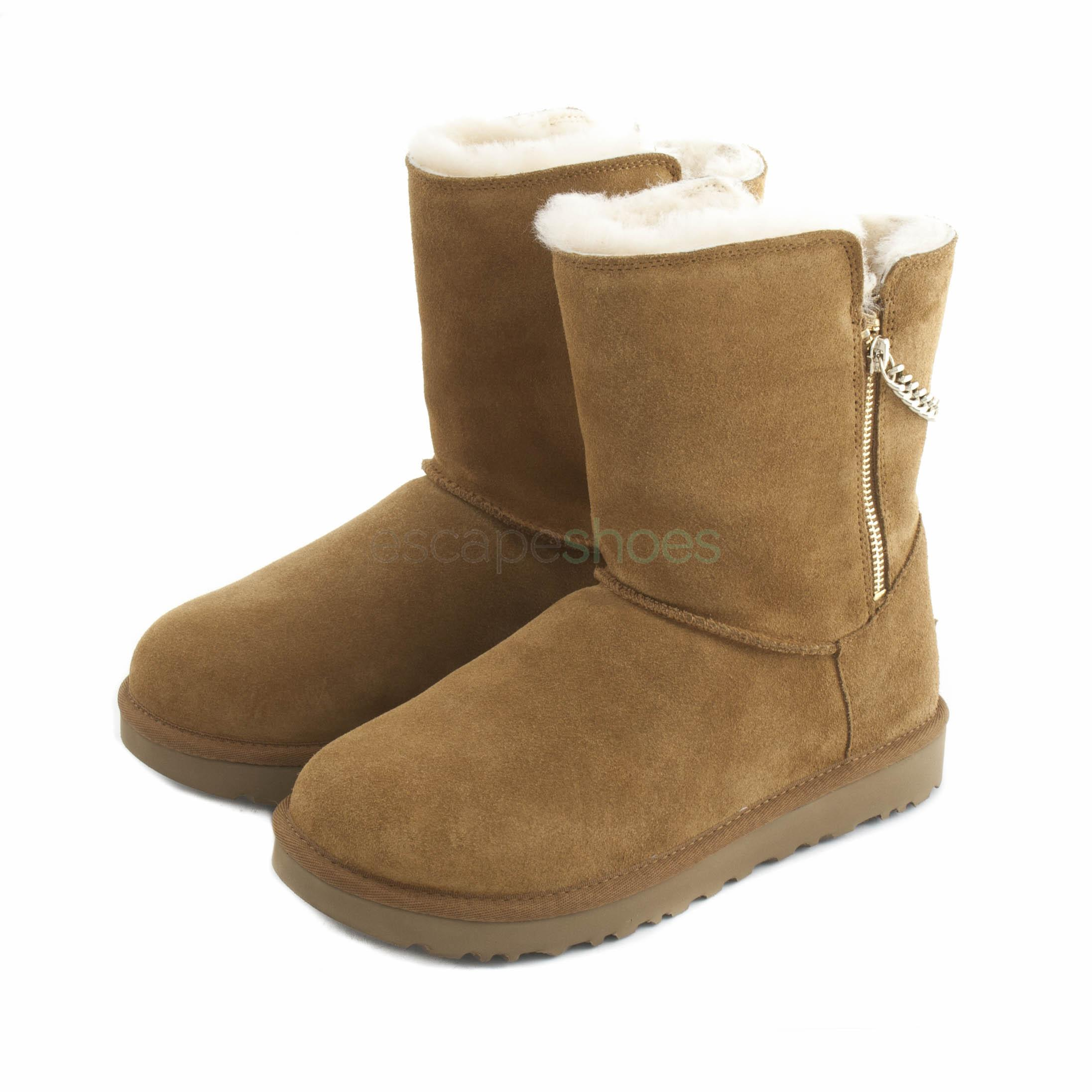 46ba49e36677 Buy your Boots UGG Australia Classic Short Sparkle Zip Brown here ...