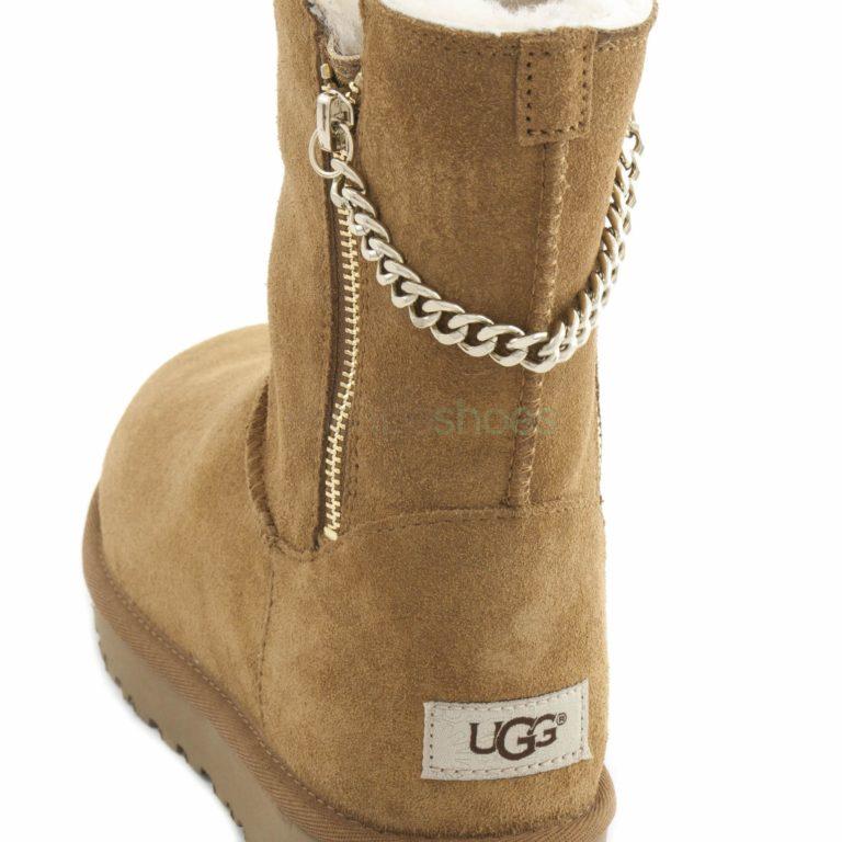 Boots UGG Australia Classic Short Sparkle Zip Brown