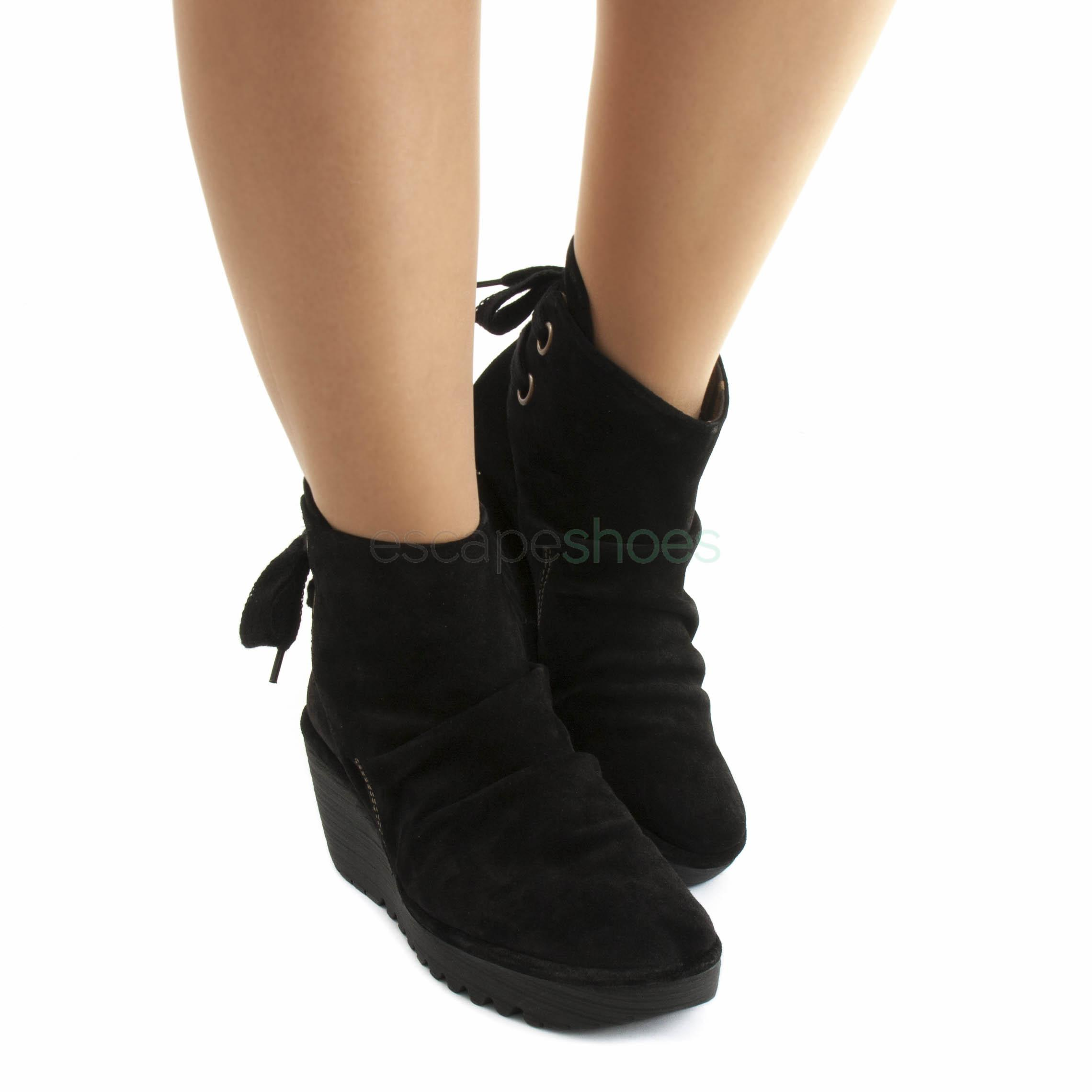 Fly London yama boots black suede, Women Sandals Fly London