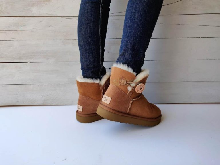 Botas UGG Australia Mini Bailey Button II Castanho