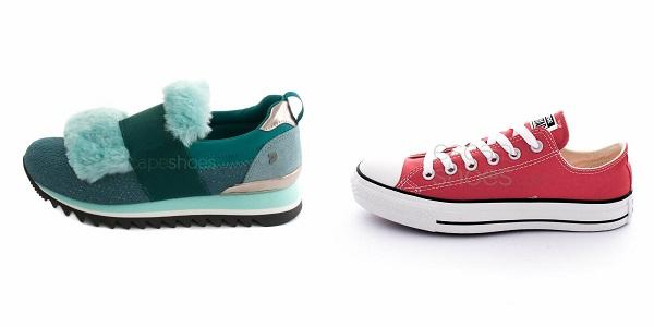 zapatillas en colores vibrantes