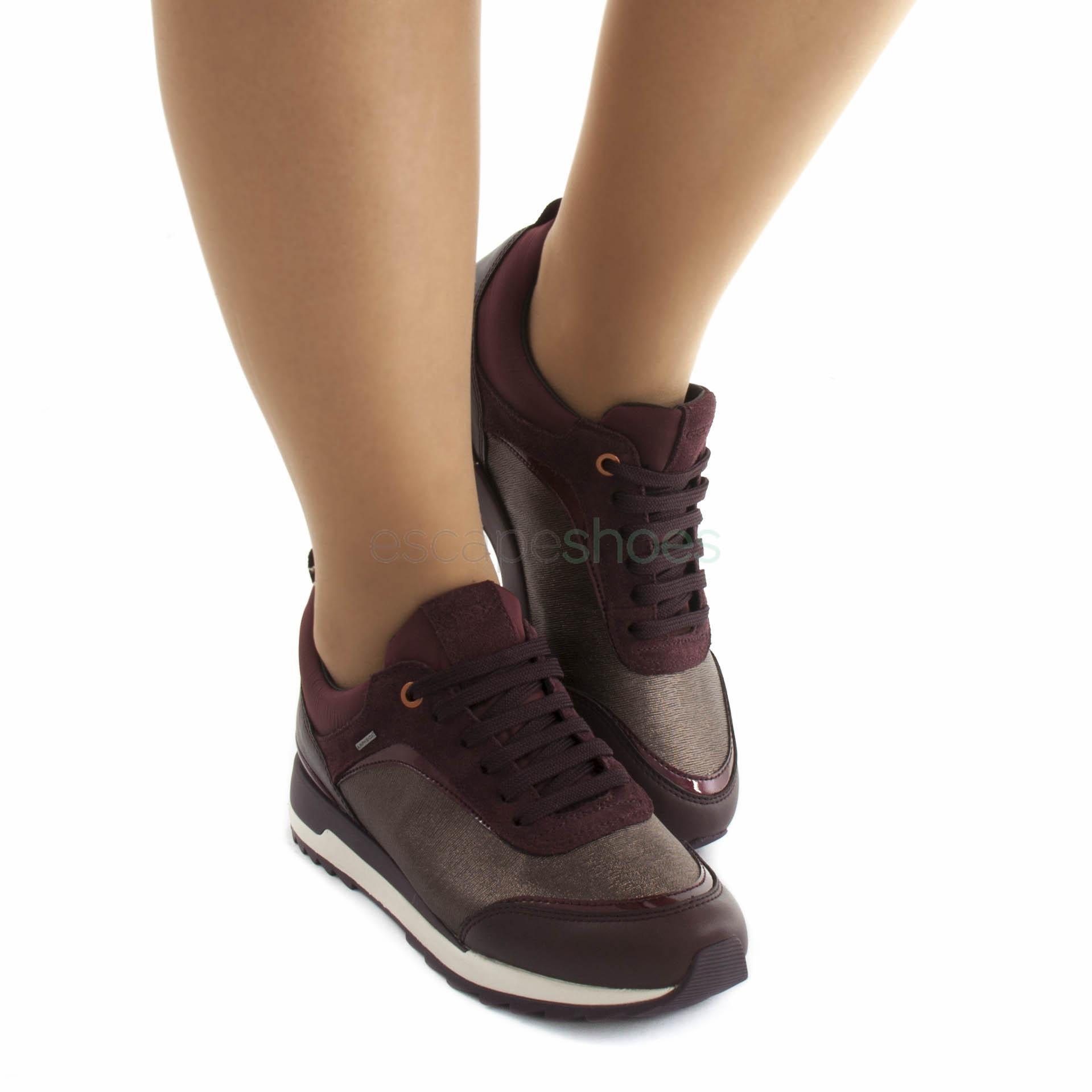 Aburrido Prueba de Derbeville Canberra  Sneakers GEOX Aneko Bordeaux