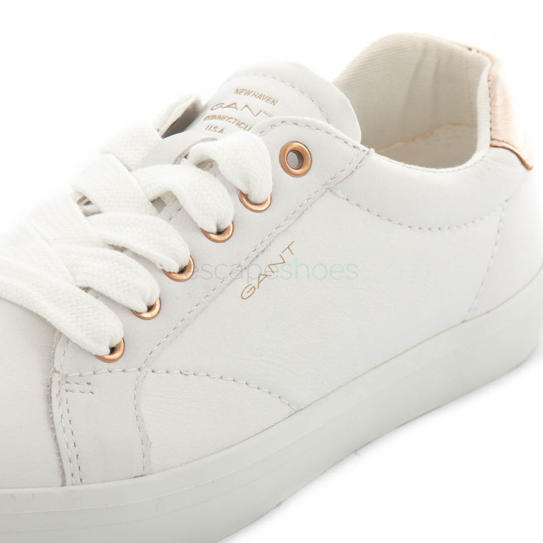 White Bright Rose Gold Gant Baltimore Leather Sneakers LSpGMqzUV