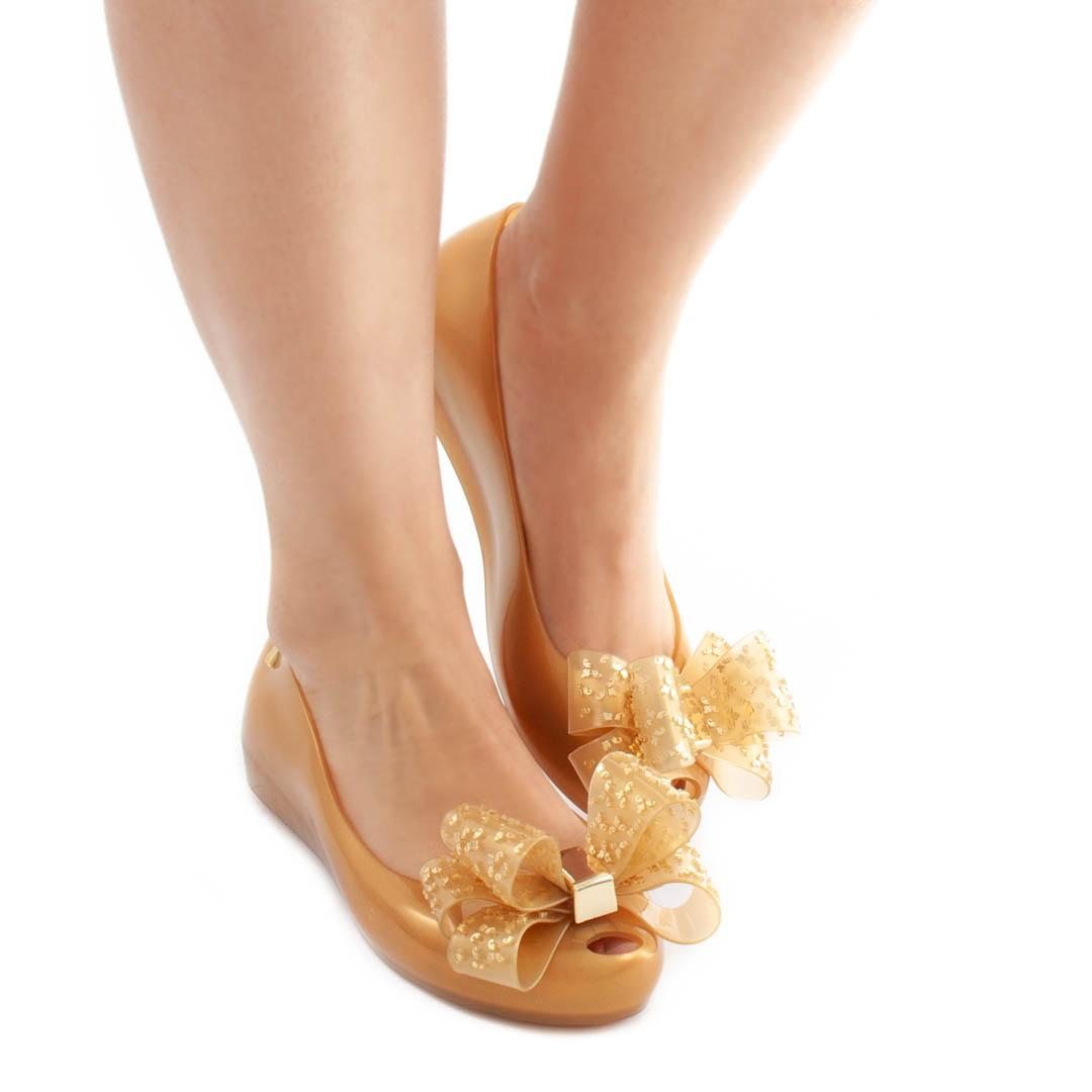 exquisite style delicate colors cheap for sale Flat Shoes MELISSA Ultragirl Sweet XVI Gold