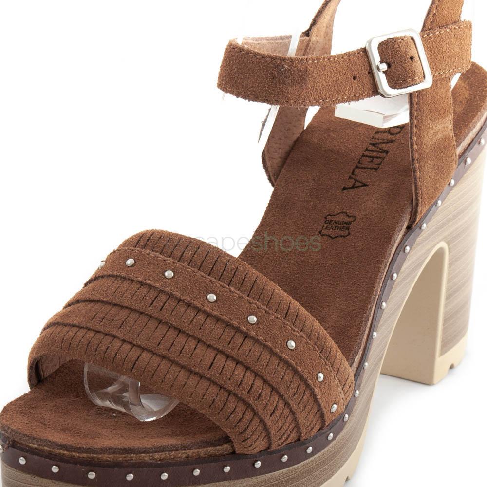 Sandals CARMELA High Heel Suede Camel