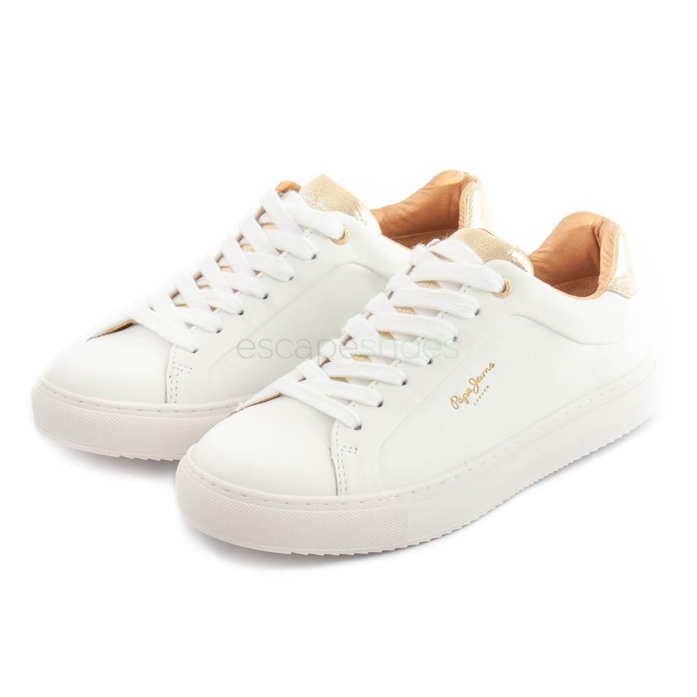 Jeans Sneakers Pepe Adams White Premium JlF13KTc