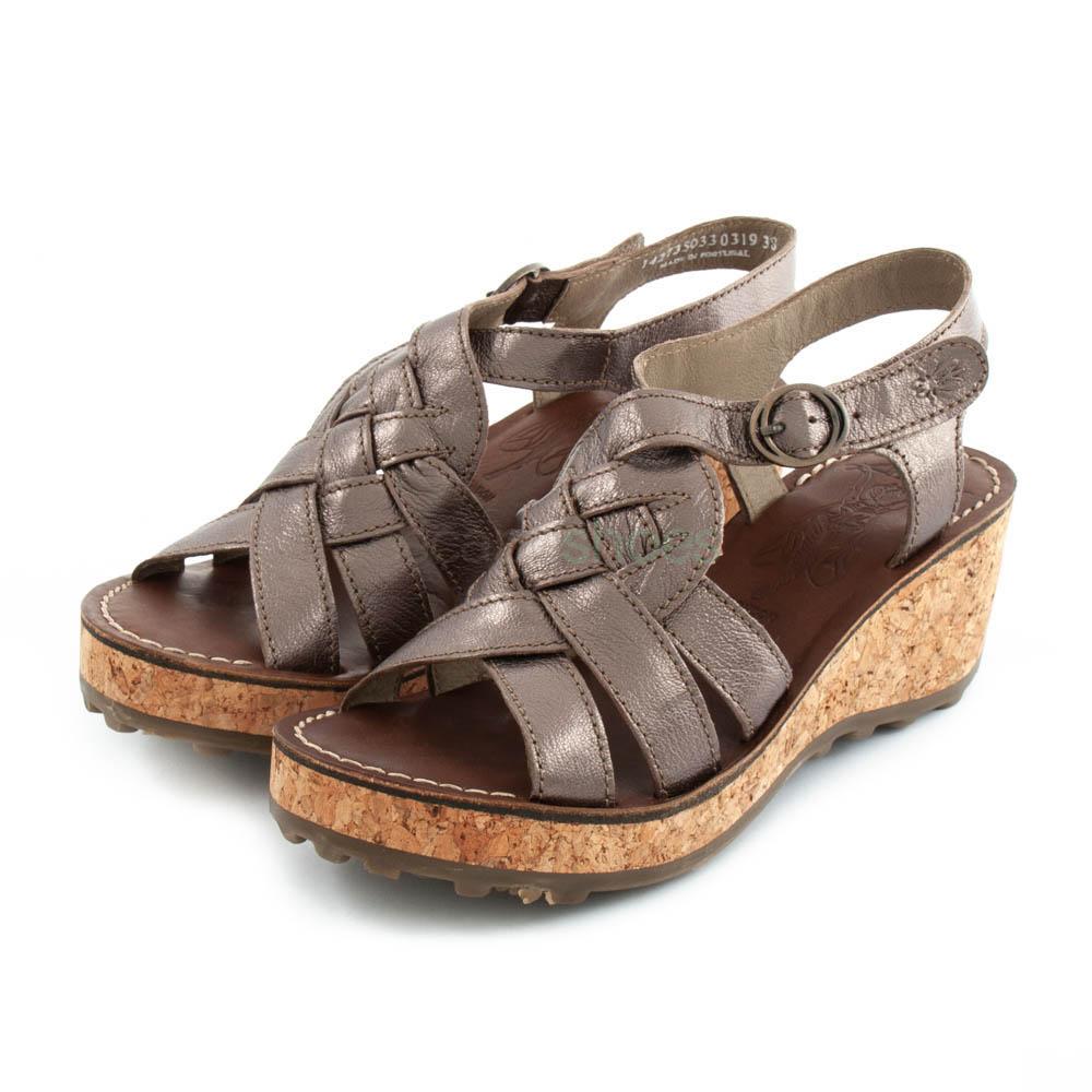 Sandálias FLY LONDON Glam Grin Bronze