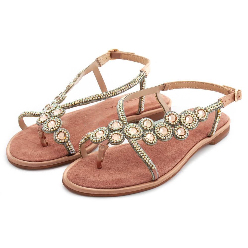 03b10b404ac Buy your Sandals ALMA EN PENA Suede Rhinestones Pink here | Online ...