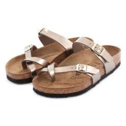 Sandals BIRKENSTOCK Mayari Electric Metallic Taupe