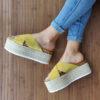 Sandálias MTNG Lita Cow Amarelo