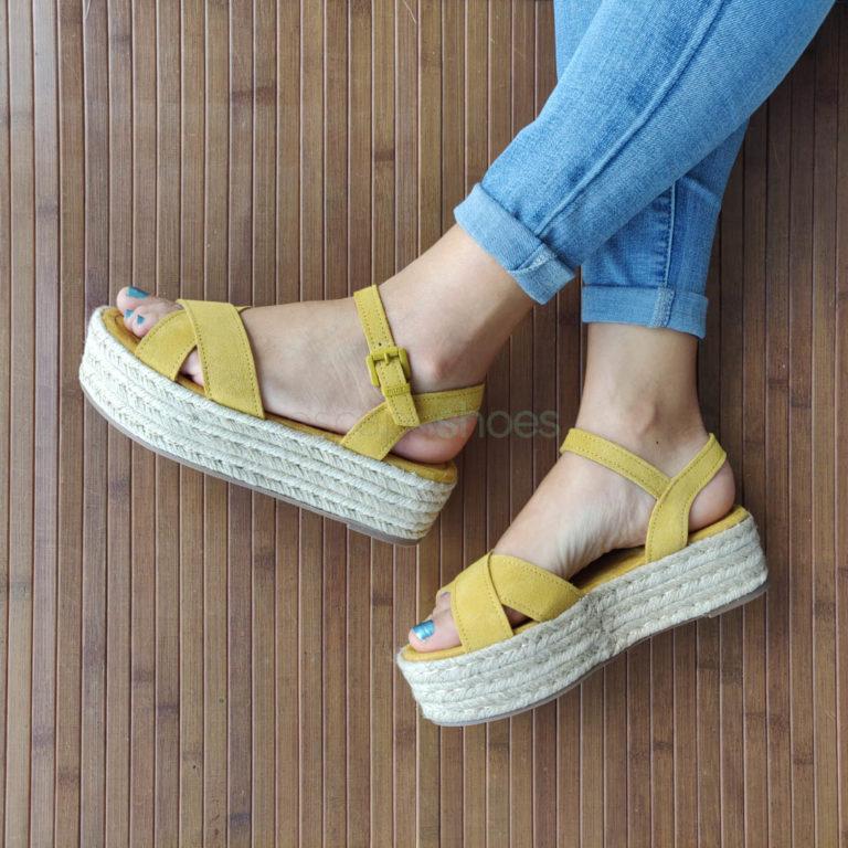 Sandálias MTNG Tessy Cow Amarelo