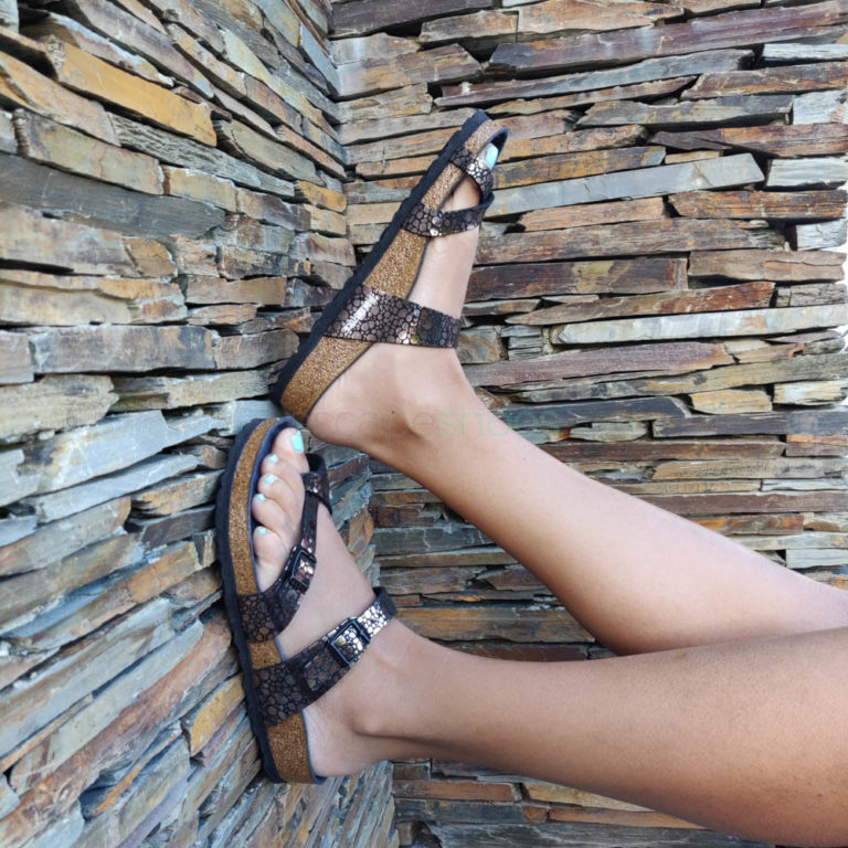 Sandálias BIRKENSTOCK 1008809 Mayari Metallic Stones Black