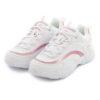Tenis MTNG Pu Branco Metalica Rosa
