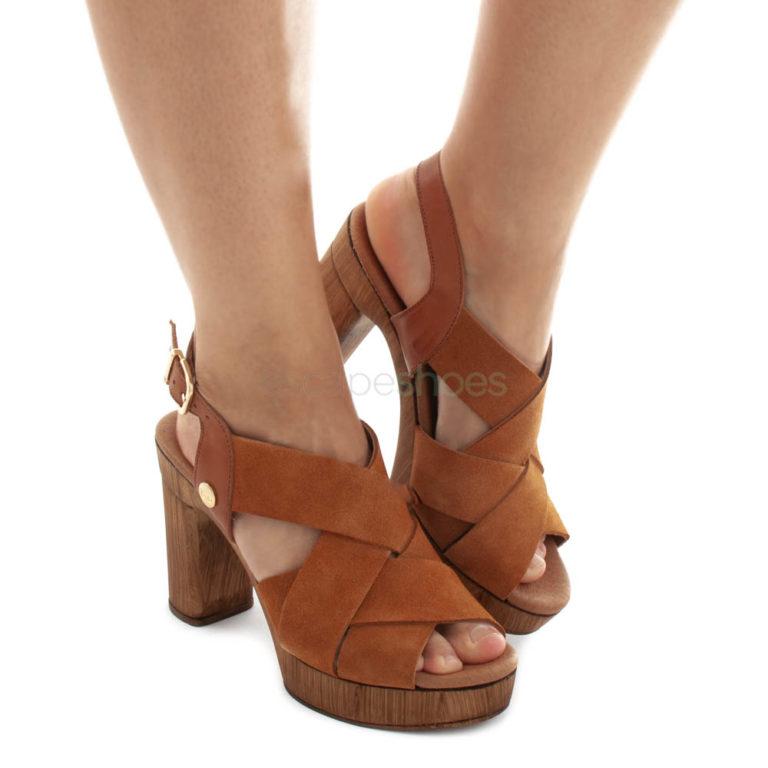 Sandals RUIKA Suede Cognac Brown