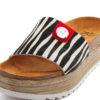 Sandálias RUIKA Pêlo Zebra Preto Branco