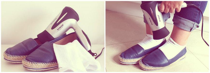 alargar sapatilhas