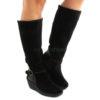 Boots FLY LONDON Yellow Yavu084 Black