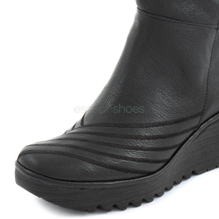 Boots FLY LONDON Yellow Yuli065 Black