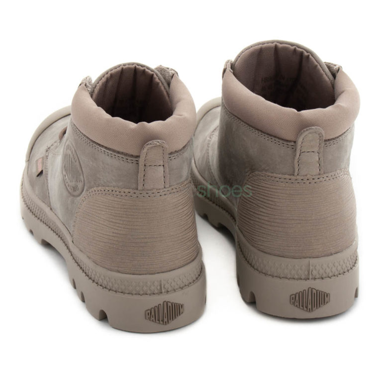 Botas PALLADIUM Low Cuff Leather Cinzentas