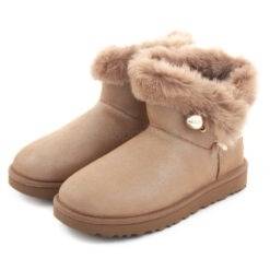 Botas UGG Australia Classic Fluff Pin Mini Antique Pearl