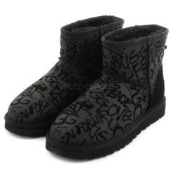 Boots UGG Australia Classic Mini Sparkle Graffiti Black