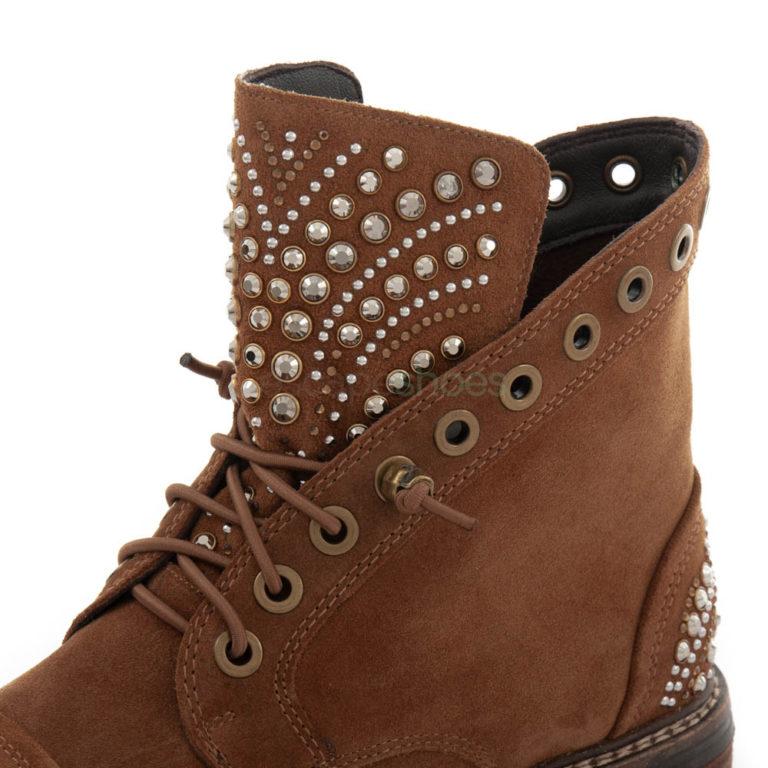 Ankle Boots ALMA EN PENA Crosta Studs Camel