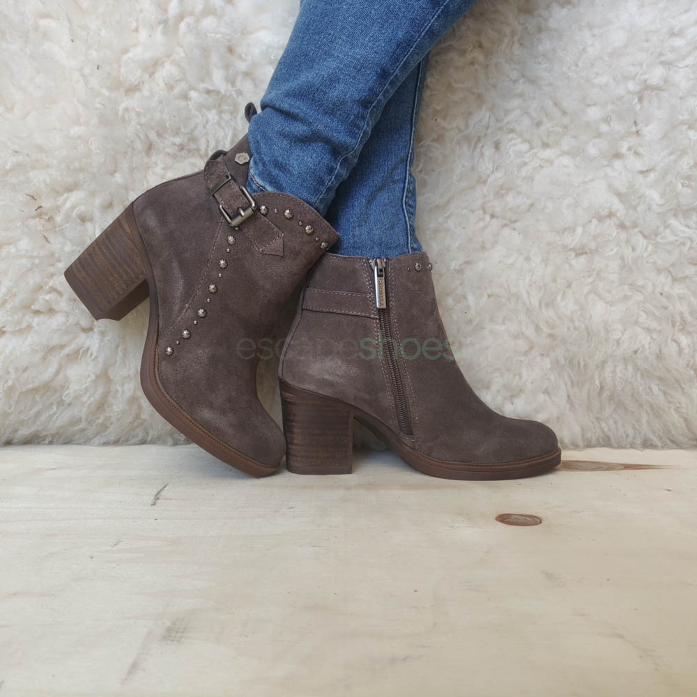 Ankle Boots CARMELA High Heel Cowboy Taupe