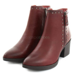 Ankle Boots CARMELA High Heel Leather Burgundy
