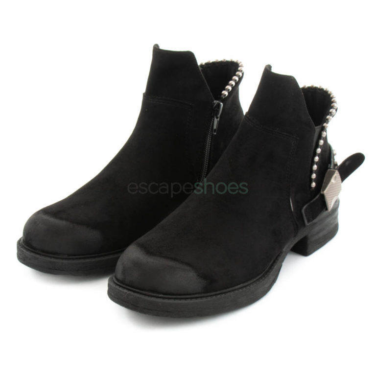 Ankle Boots FRANCESCOMILANO Studs Black