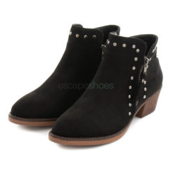 Ankle Boots XTI Suede Zip Studs Black