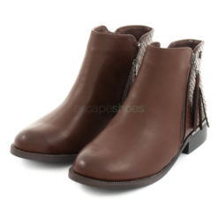 Ankle Boots XTI Leather Zip Brown