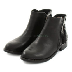 Ankle Boots XTI Leather Zip Black