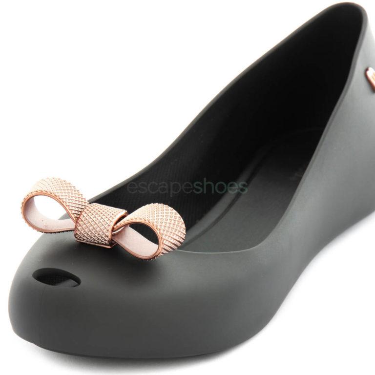 Flat Shoes MELISSA Ultragirl Bow Chrome Black