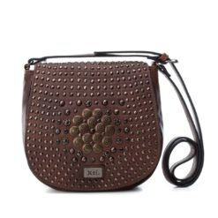 Bag XTI Otra Studs Flower Brown