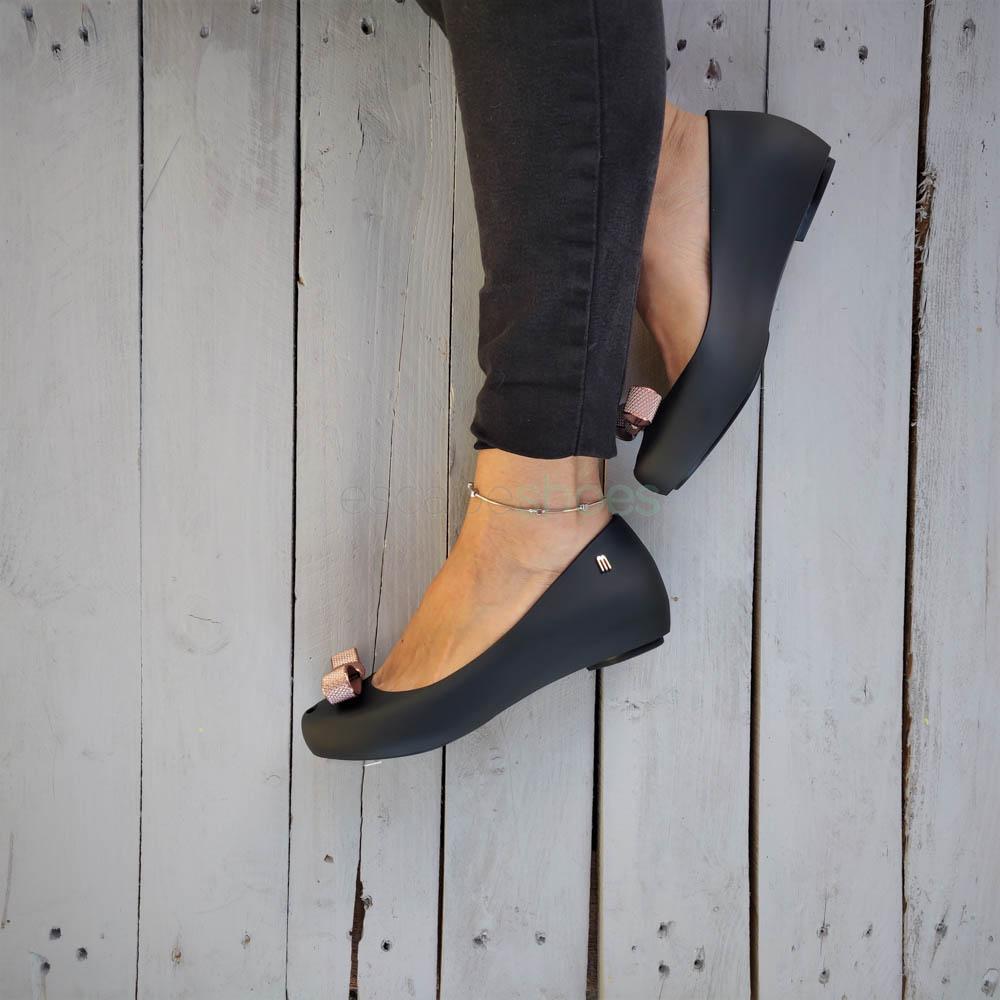 Flat Shoes MELISSA Ultragirl Bow Chrome