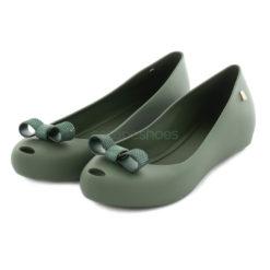 Flat Shoes MELISSA Ultragirl Bow Chrome Olive