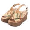 Sandálias RUIKA Cunha Tecido Multicolor