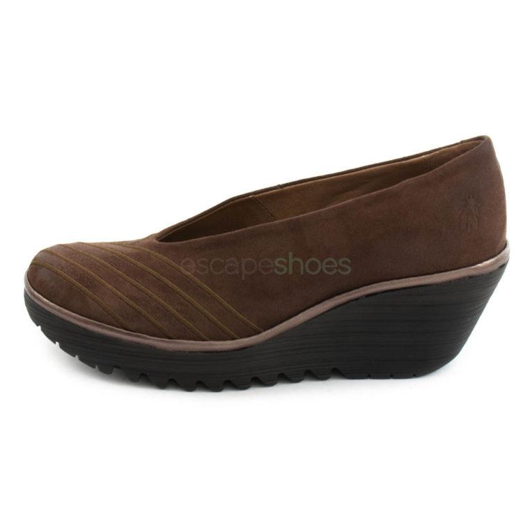 Sapatos FLY LONDON Yellow Yaku063 Castanhos