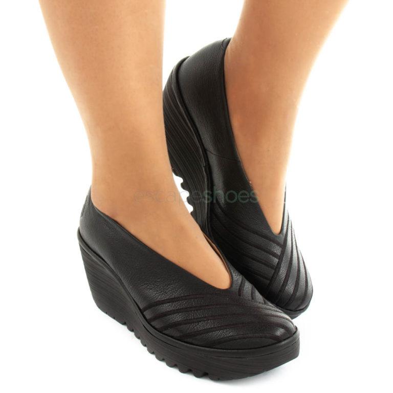 Shoes FLY LONDON Yellow Yaku063 Black