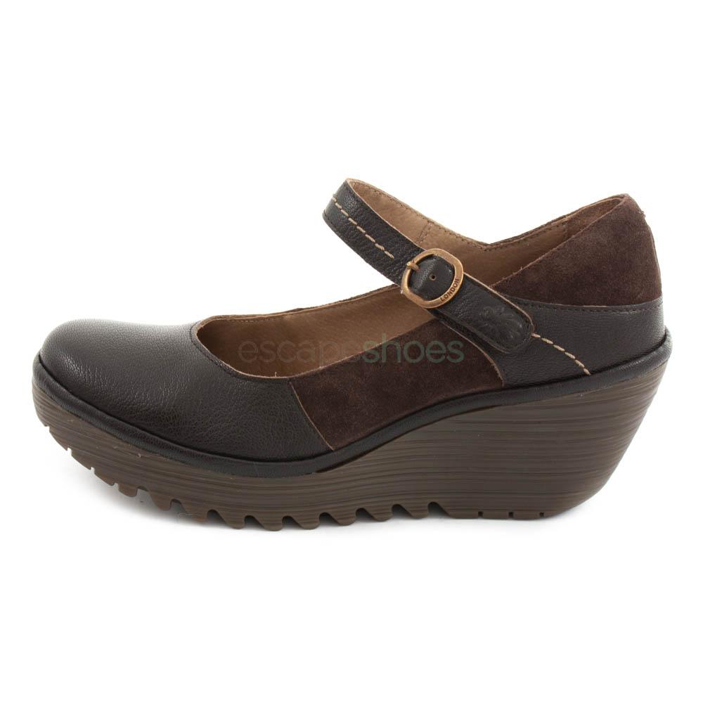 Shoes FLY LONDON Yellow Yuko082 Chocolate
