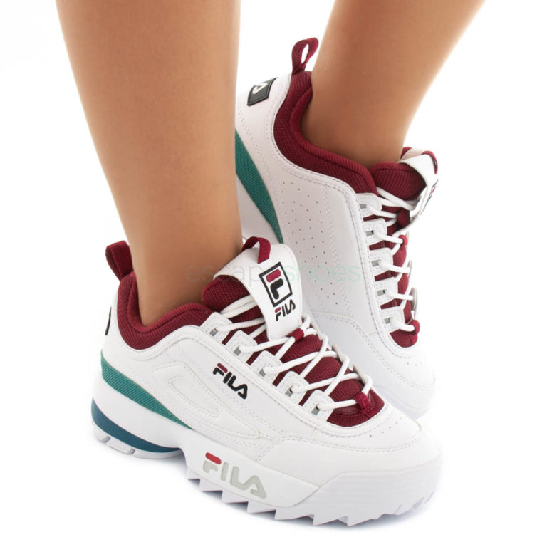 Tenis FILA Disruptor CB Low Branco Bordeaux
