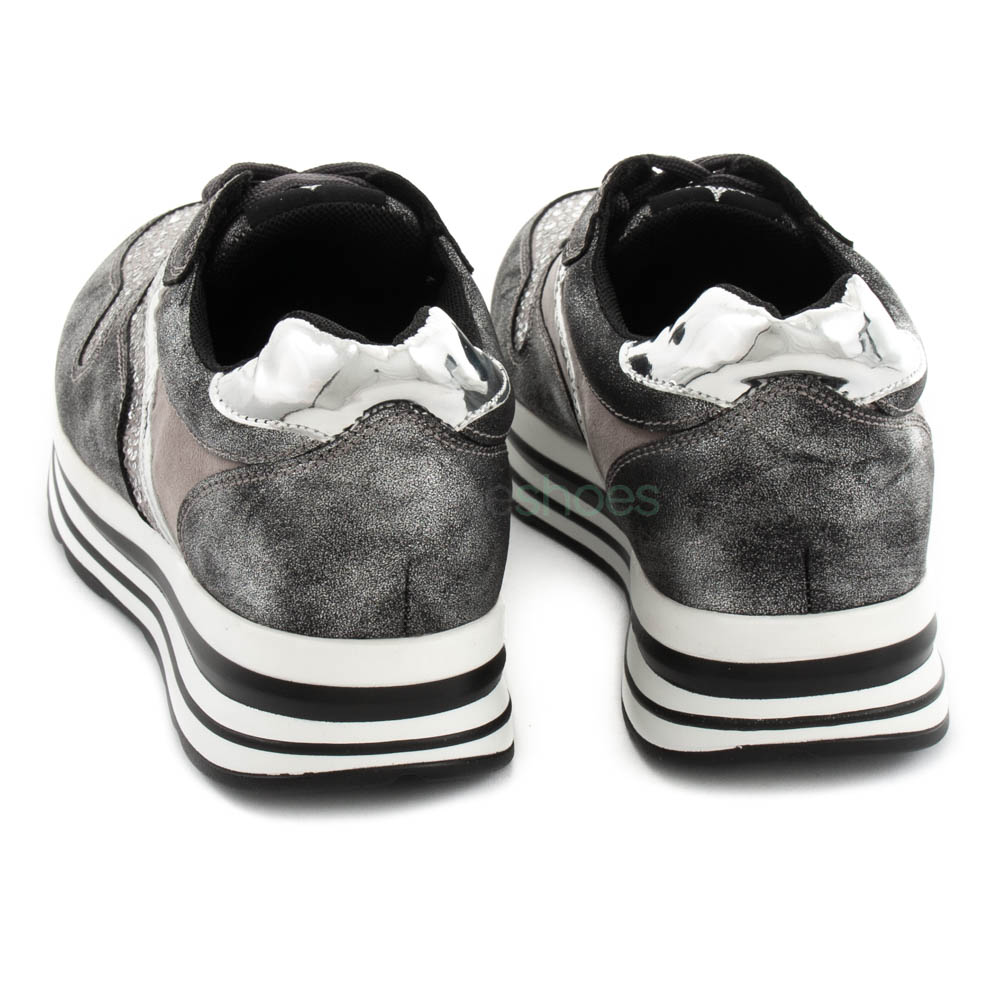 Instruir Sierra agricultores  Sneakers FRANCESCOMILANO Metallized Glitter Grey