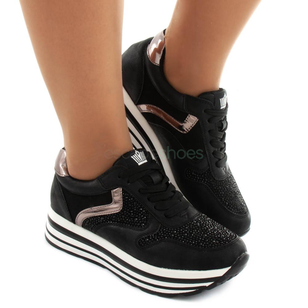 Antemano Hervir Esperar  Sneakers FRANCESCOMILANO Metallized Glitter Black