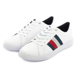 Tenis TOMMY HILFIGER Crystal Leather Brancos