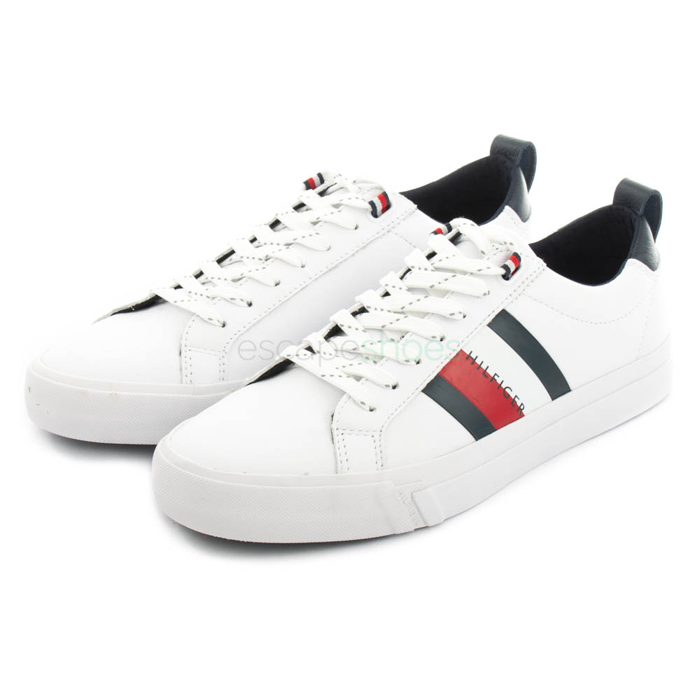 Sneakers TOMMY HILFIGER Flag Leather White