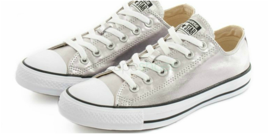 silver all star sneakers
