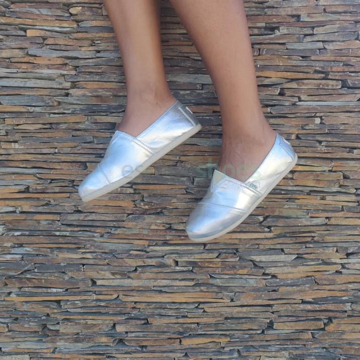 Alpargatas PAEZ Classic Combi Glitter Prateado 2030501S2706-105